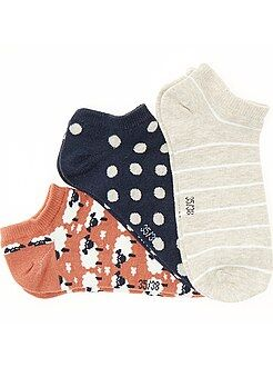 Collants, chaussettes - Lot de 3 paires de socquettes