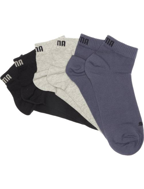 Lot de 3 paires de soquettes 'Puma' tige courte                                                                                                                 bleu/gris/blanc Homme