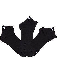Sport - Lot de 3 paires de soquettes 'Puma' tige courte - Kiabi