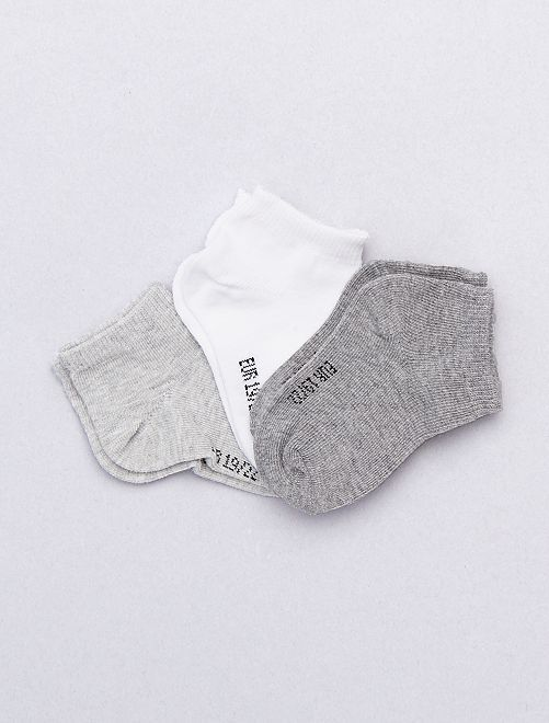Lot de 3 paires invisibles unies                                                                 gris