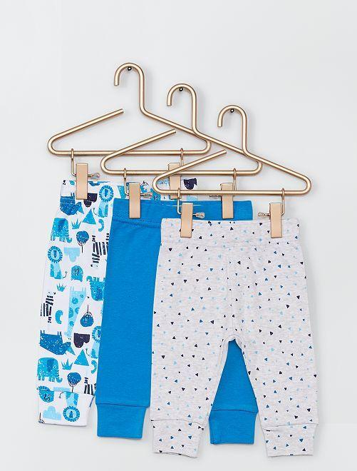 Lot de 3 pantalons                             blanc/bleu
