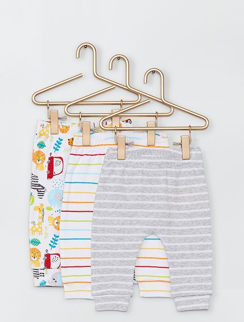 Lot de 3 pantalons imprimés                             multicolore