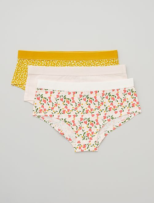 Lot de 3 shorties                                                                             jaune/rose