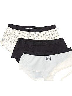 Culotte, shorty, string taille 44/46 - Lot de 3 shorties Les Pockets de 'DIM'