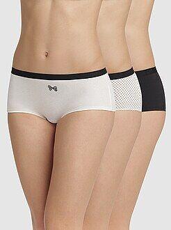 Culotte, shorty, string taille 36/38 - Lot de 3 shorties Les Pockets de 'DIM'