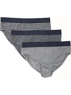 Grande taille homme Lot de 3 slips en coton stretch