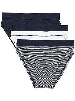 Garçon 3-12 ans Lot de 3 slips en pur coton