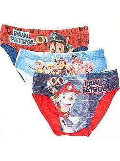 Sous-vêtement - Lot de 3 slips 'Pat'Patrouille' - Kiabi