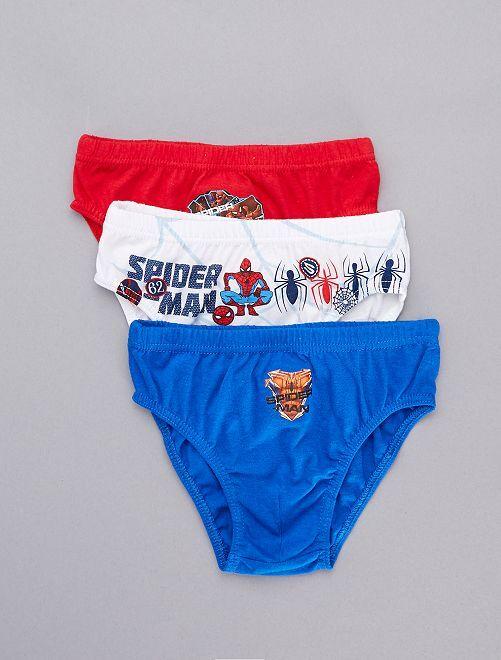 Lot de 3 slips 'Spider-Man'                             rouge/blanc/bleu Garçon