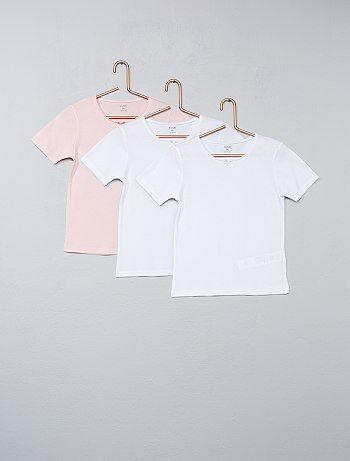 Lot de 3 t-shirts unis - Kiabi