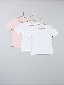 Lot de 3 t-shirts unis