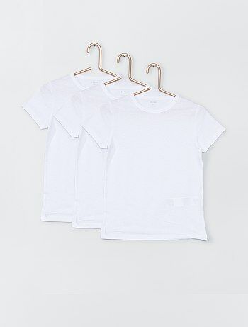 Lot de 3 Tee-shirts blancs - Kiabi