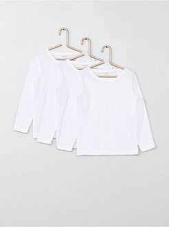 Garçon 4-12 ans Lot de 3 tee-shirts manches longues en coton