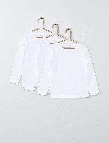 Lot de 3 tee-shirts manches longues en coton - Kiabi