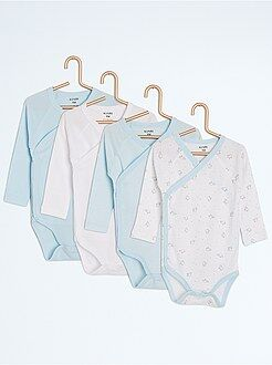 Body manches longues - Lot de 4 bodies en pur coton