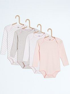 Body manches longues - Lot de 4 bodies fantaisie