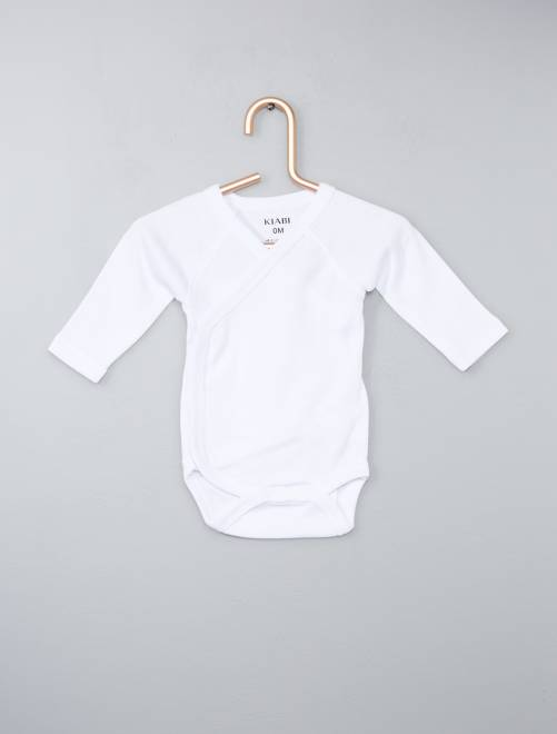 lot de 4 bodies pur coton bébé garçon - kiabi - 9,60€