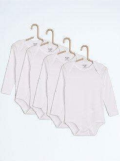 Body manches longues - Lot de 4 bodies unis