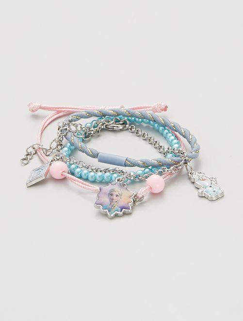 Lot de 4 bracelets la 'Reine des Neiges'                                         bleu