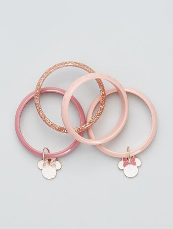Lot de 4 bracelets 'Minnie Mouse'