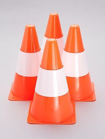 Lot de 4 cônes de signalisations