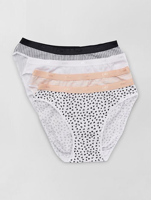 Lot de 4 culottes 'Les Pockets' de 'Dim'                             blanc