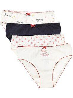 Sous-vêtement - Lot de 4 culottes 'licorne' - Kiabi