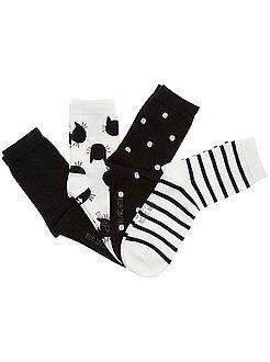 Collants, chaussettes - Lot de 4 paires de chaussettes - Kiabi