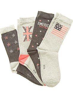 Garçon 10-18 ans Lot de 4 paires de chaussettes.