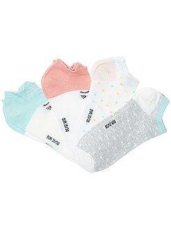Collants, chaussettes - Lot de 4 paires de chaussettes invisibles - Kiabi