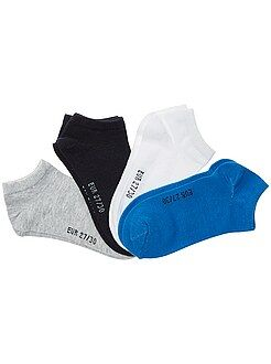 Garçon 10-18 ans - Lot de 4 paires de chaussettes invisibles - Kiabi