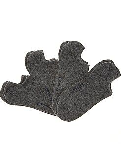 Lot de 4 paires de chaussettes invisibles - Kiabi