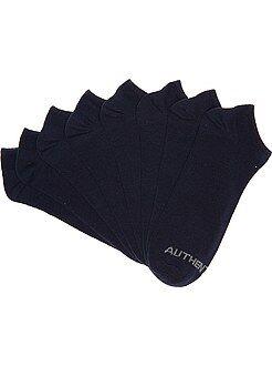 Sport - Lot de 4 paires de chaussettes invisibles