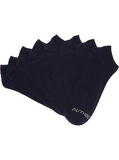 Sport - Lot de 4 paires de chaussettes invisibles - Kiabi