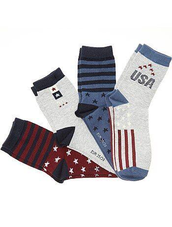 Lot de 4 paires de chaussettes 'USA' - Kiabi
