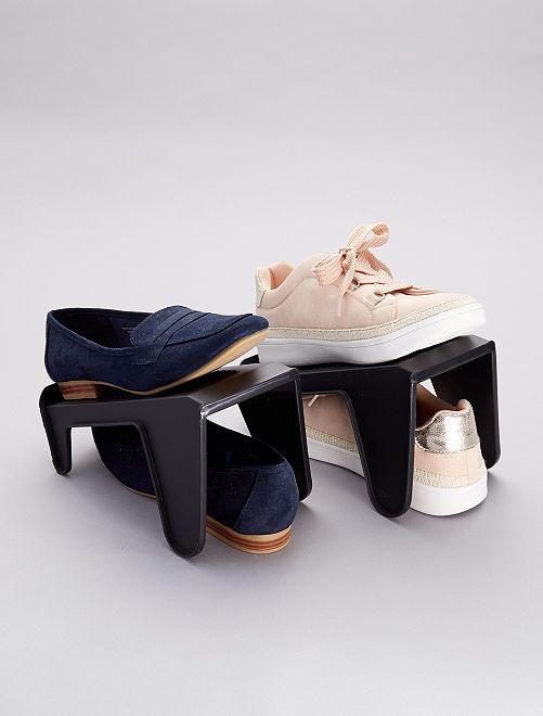 Lot de 4 ranges-chaussures                             noir