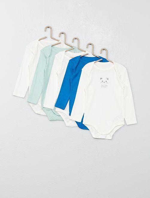 Lot de 5 bodies                                                                 bleu