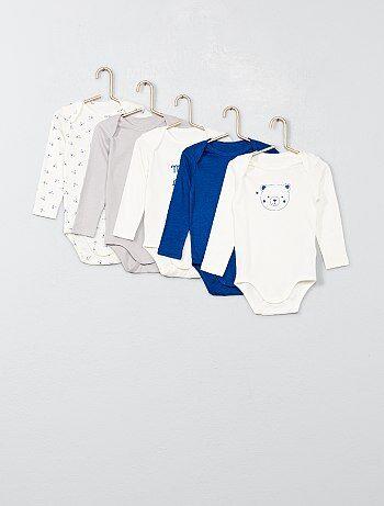 Lot de 5 bodies pur coton - Kiabi