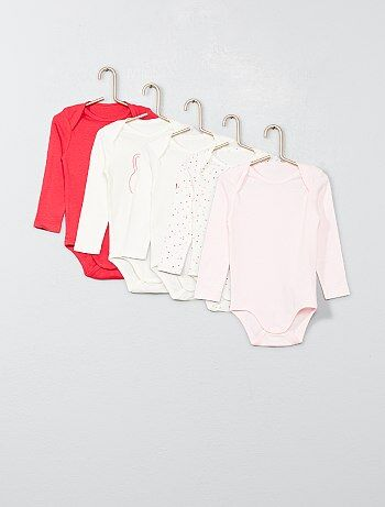 Lot de 5 bodies pur coton - Kiabi