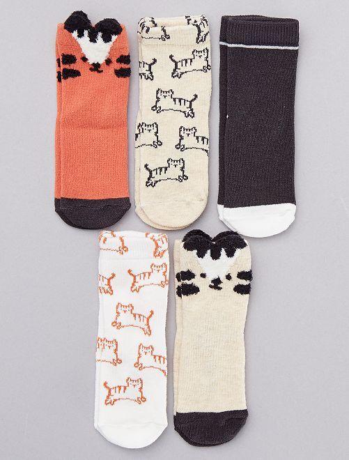 Lot de 5 chaussettes en coton bio                                                                 blanc