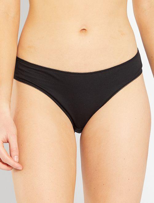 Lot de 5 culottes 'eco-conception'                                         noir