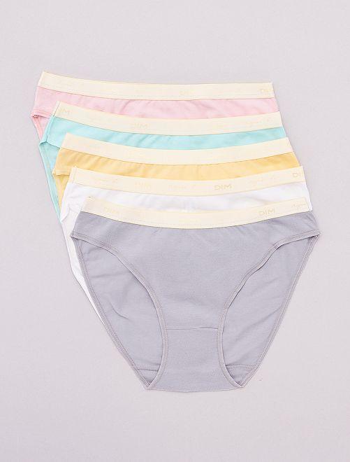 Lot de 5 culottes 'Les Pockets' de 'DIM'                                         pastel