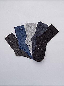 Grande taille homme - Lot de 5 de chaussettes - Kiabi