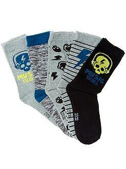 Garçon 4-12 ans Lot de 5 paires de chaussettes
