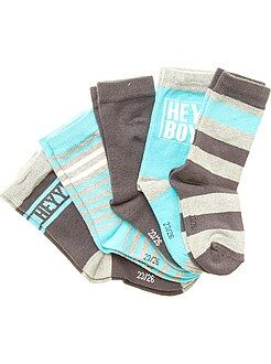 Garçon 18 mois - 5 ans Lot de 5 paires de chaussettes