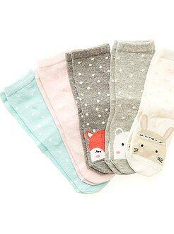 Fille 0-24 mois Lot de 5 paires de chaussettes