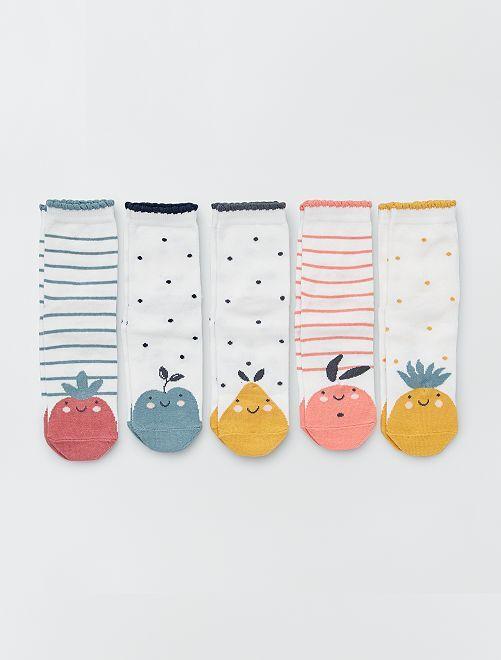 Lot de 5 paires de chaussettes 'animal'                                                                             multico