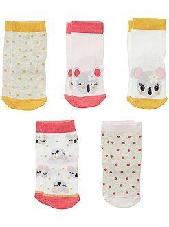 Chaussettes, collants - Lot de 5 paires de chaussettes animaux - Kiabi