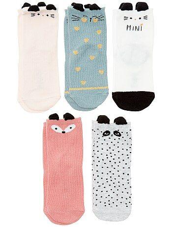 Lot de 5 paires de chaussettes 'animaux' - Kiabi
