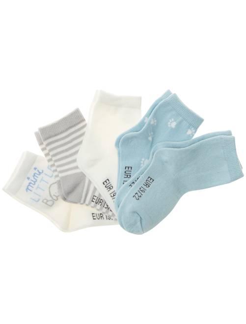 Lot de 5 paires de chaussettes                             bleu Bébé garçon